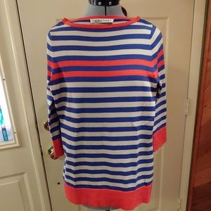 Trina Turk striped sweater 3/4 sleeves